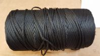 BLACK BRAID 3 mm diam hollow  APPROX 350m